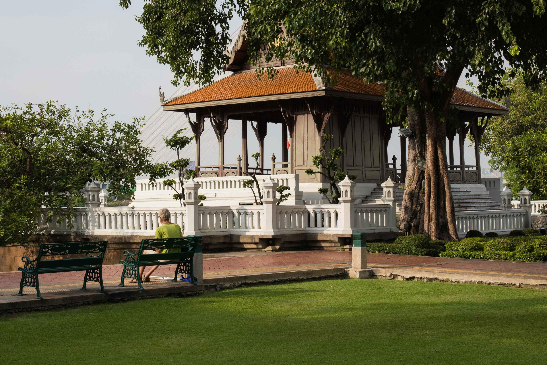 Santi Chai Prakan Public Park pavilion