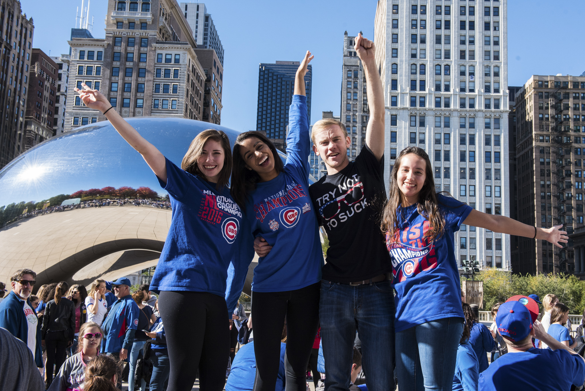 Score free Cubs tickets in Millennium Park today