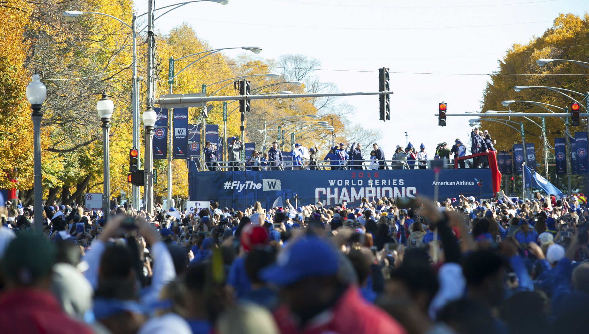 Photos from the Cubs' World Series championship parade and rally