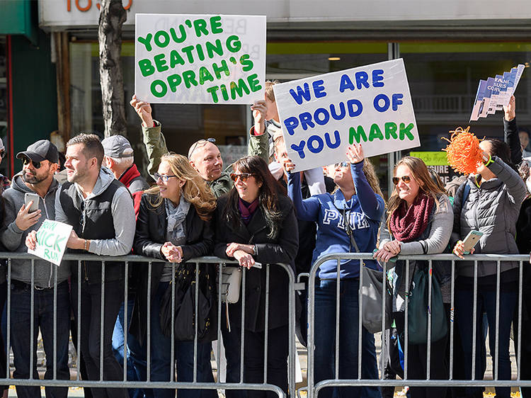 Make a sign for the NYC Marathon