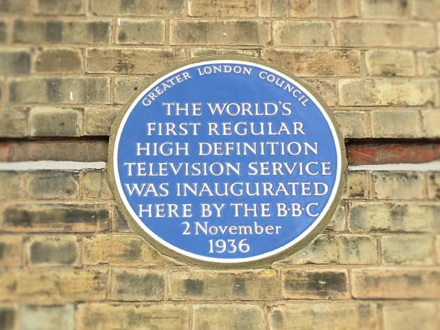 Eight places in London connected with the birth of television