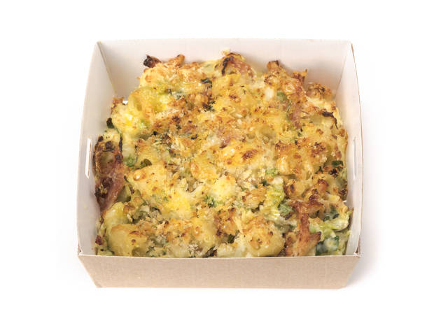 Pret Christmas specials, ham hock and sprout macaroni