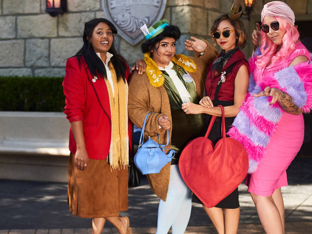 Thousands show off their most stylish outfits for Dapper Day at Disneyland