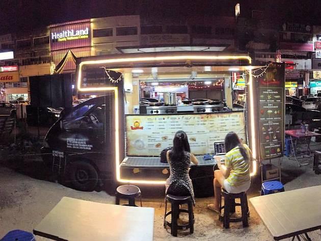 neon food truck