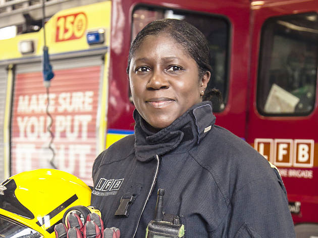 Karen Bell, firefighter