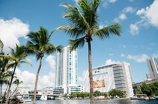 Miami River; downtown Miami