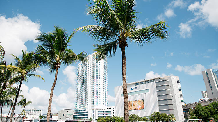 Miami River; downtown Miami