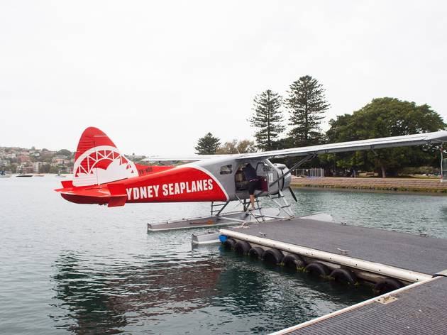The plane at Sydney Seaplanes