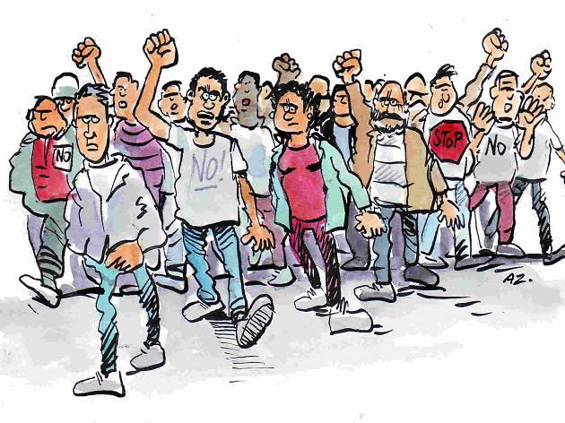 Dibuix veïns manifestació