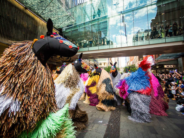 Nick Cave 2016 HEARD•SYD performance still 01 Pitt Street Mall Nov 10 2016 courtesy City of Sydney photographer credit Anna Kucera