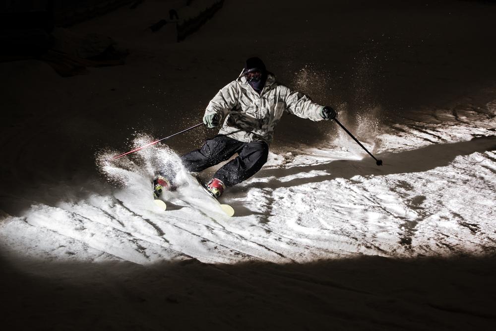 Esquiant en la foscor
