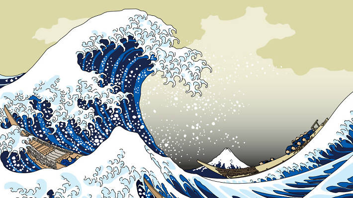 the great wave, tourism japan