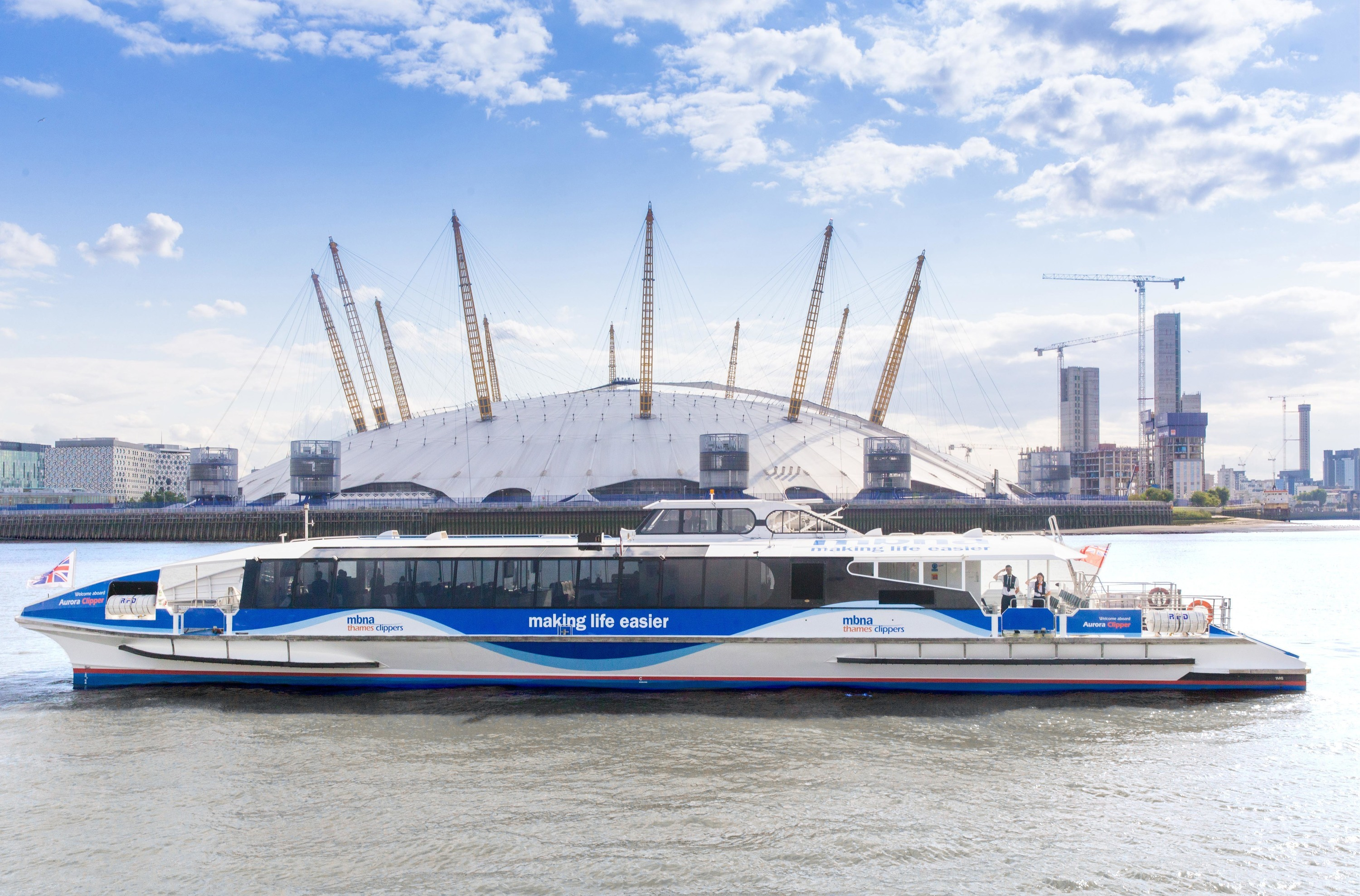 Uber has teamed up with Thames Clippers for a London commuter riverboat service