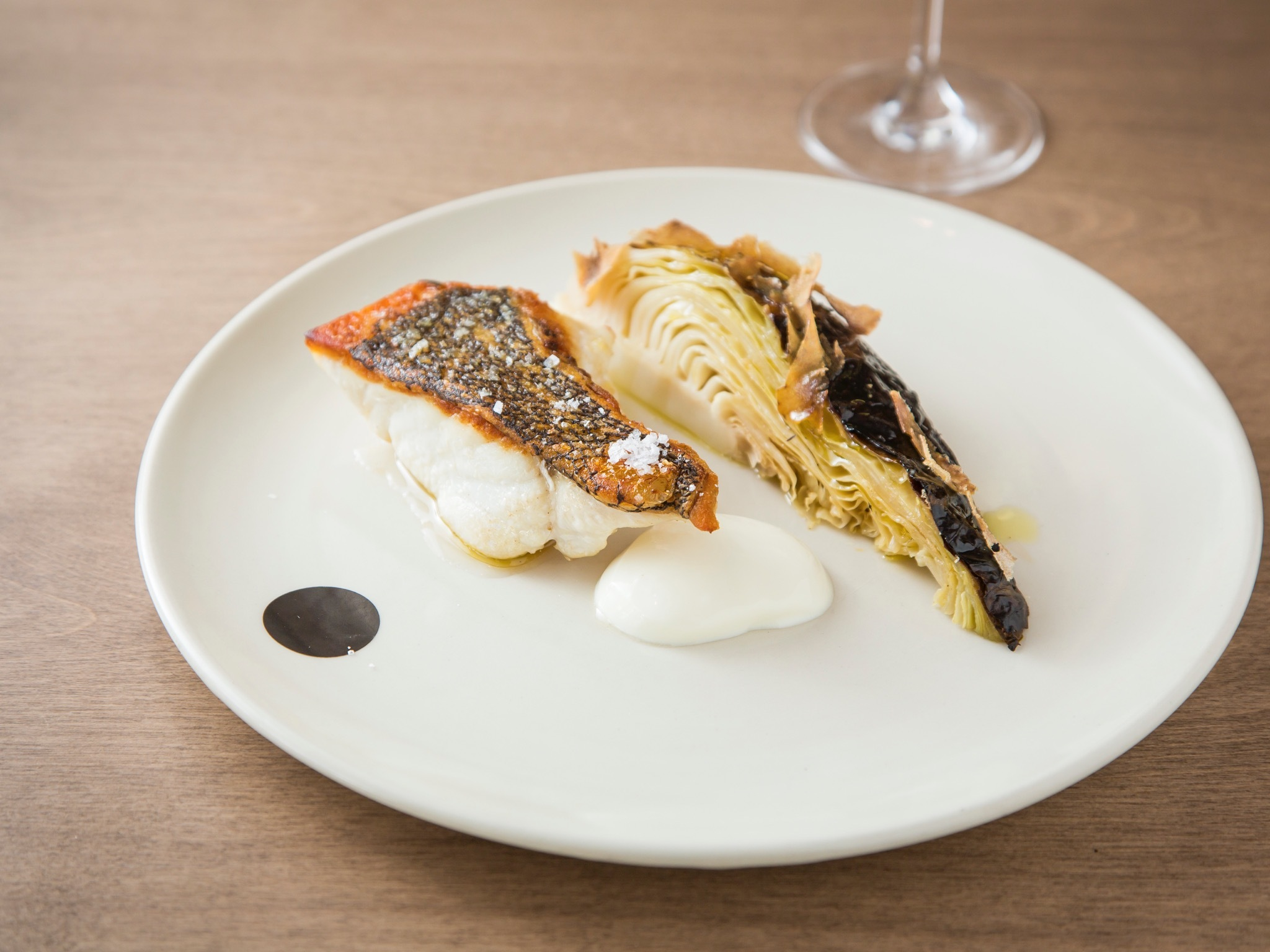 Fish with cabbage at Saint Peter