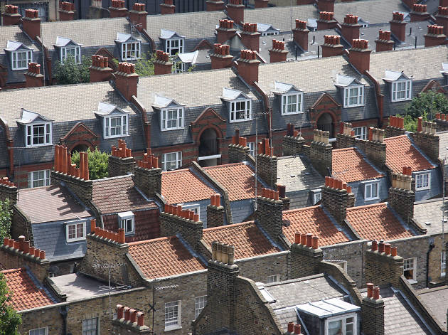 Terraced London houses in Whitechapel