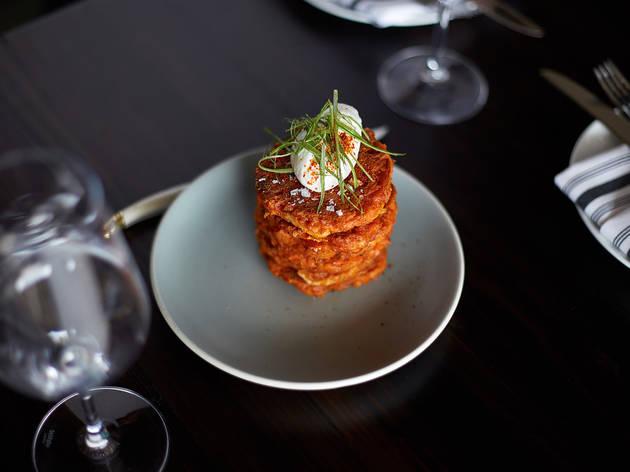 Kimchi Latkes at Leona