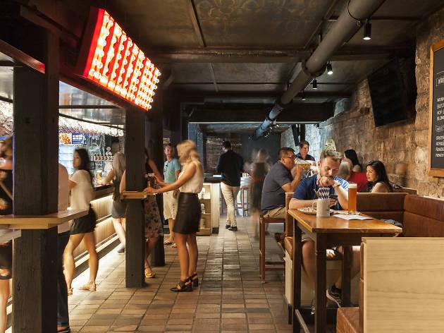 People enjoying the Bavarian Beer Cafe in Sydney