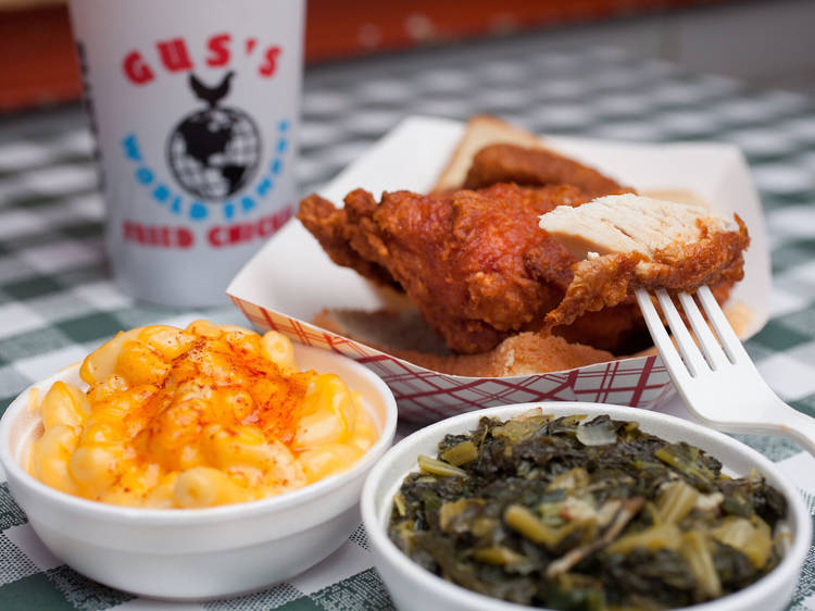 Fried chicken at Gus's World Famous Fried Chicken