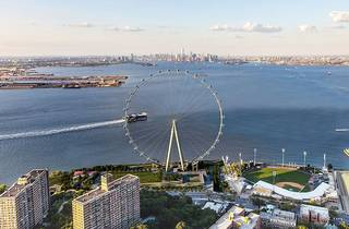 The world's largest Ferris wheel begins construction in NYC