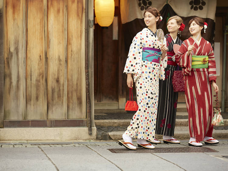 Get styled in traditional Japanese dress and stroll around Kanazawa