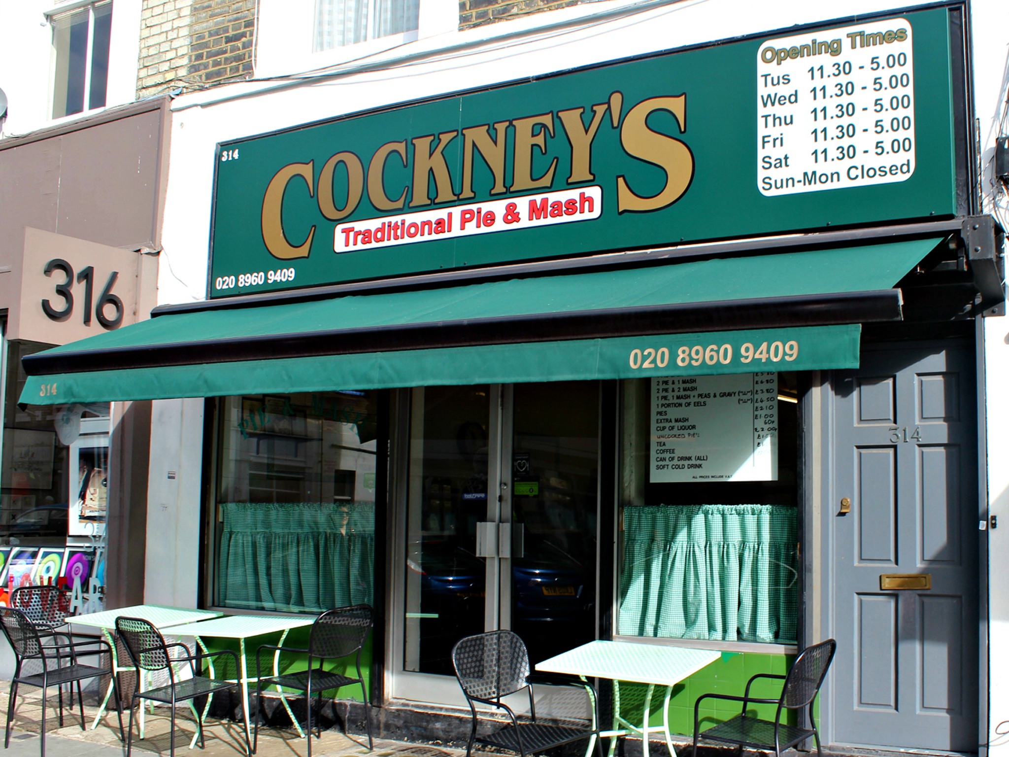 London's best pie & mash shops, Cockney's pie & mash
