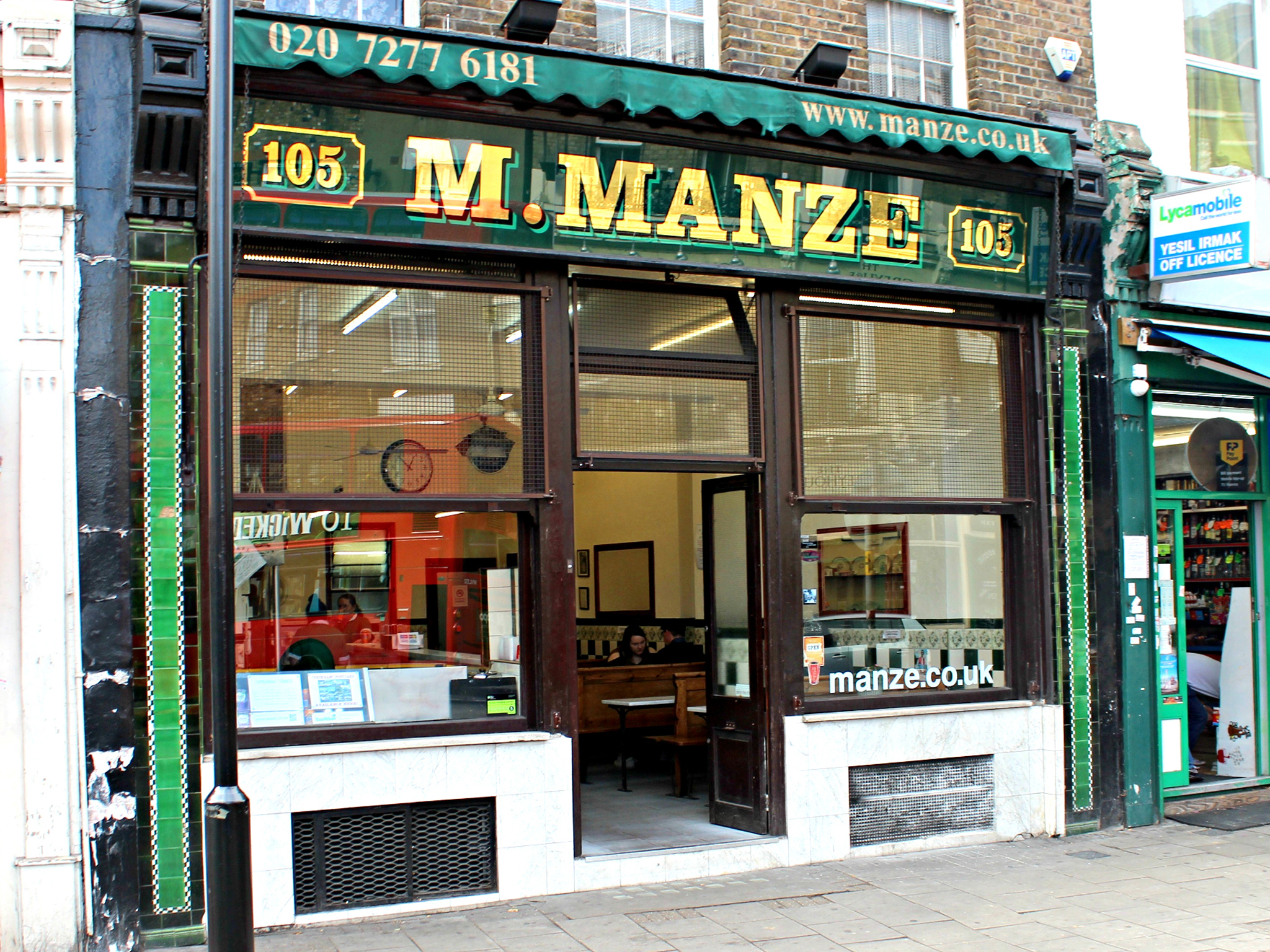 London's best pie and mash shops, M Manze Peckham