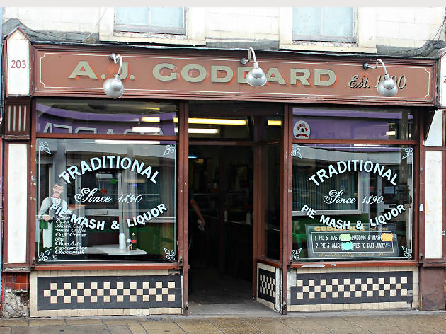 London's best pie and mash shops, A J Goddard