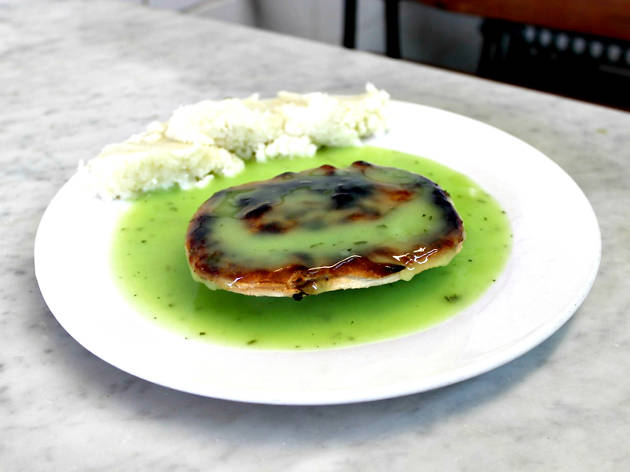 Eat at a traditional pie and mash shop