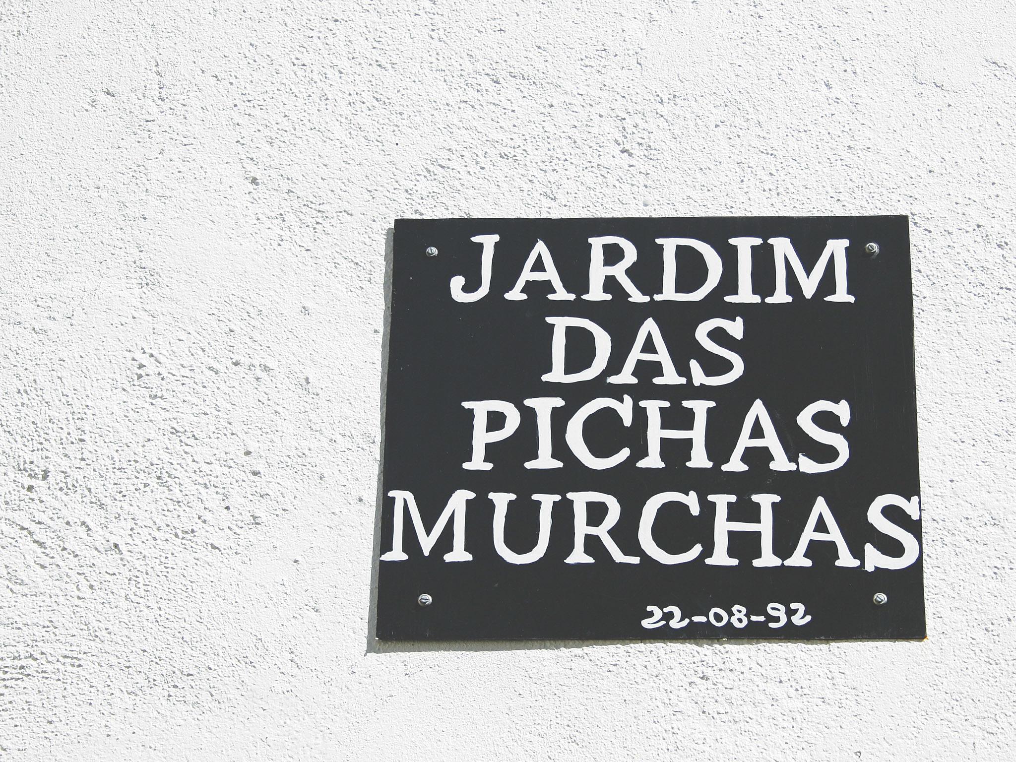 Placa Jardim das pichas murchas