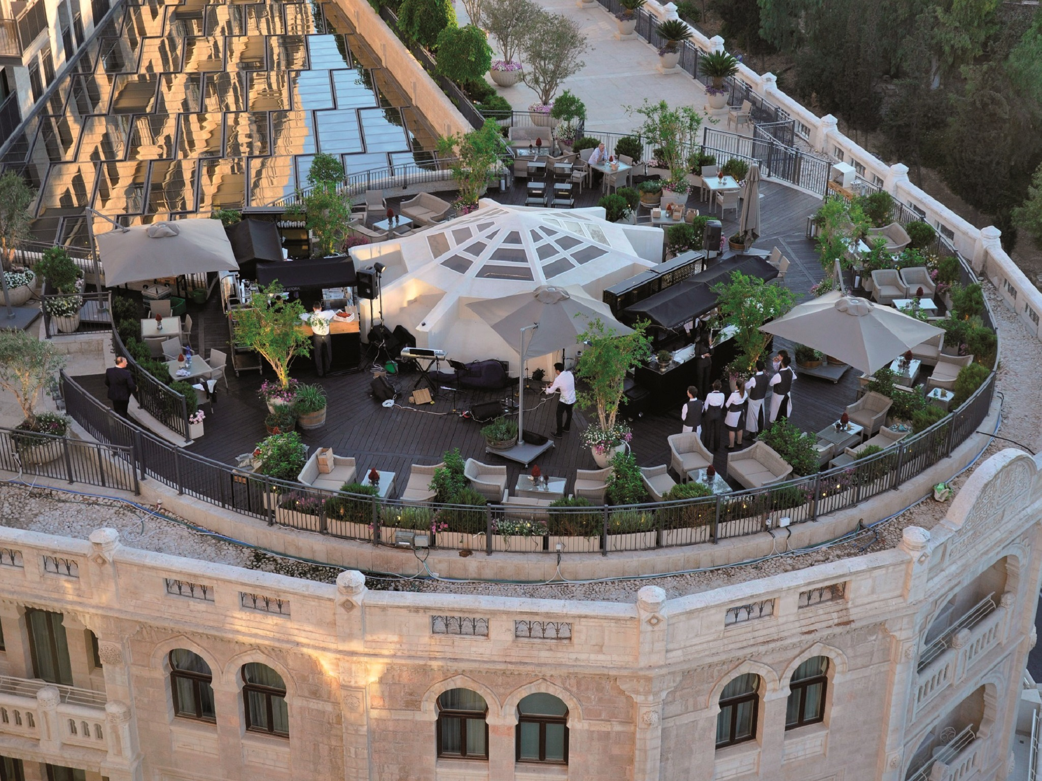 The Garden Terrace Restaurants In Jerusalem City Center