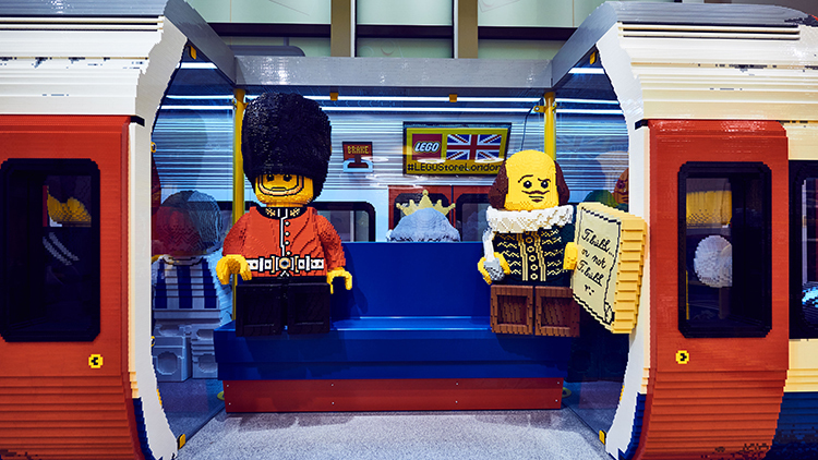 In pictures: London's new LEGO shop is open and there's a GIANT LEGO tube carriage