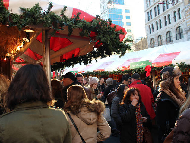 The Union Square Holiday Market officially opens for the season today