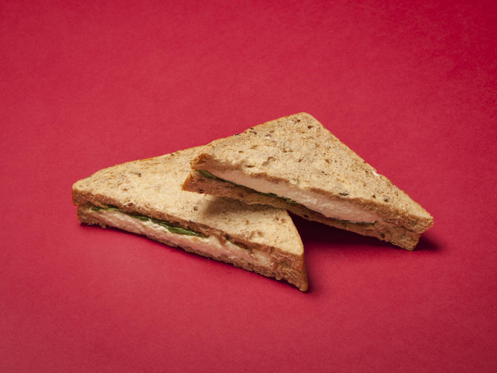 Tesco: Wensleydale and Spiced Carrot Chutney Sandwich