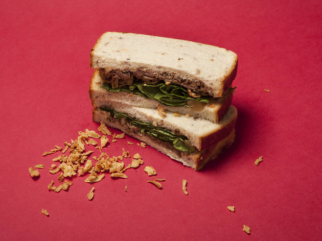 Waitrose: Christmas Steak and Stilton Sandwich with Crispy Onions