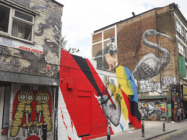 Street art on Hanbury Street, E1