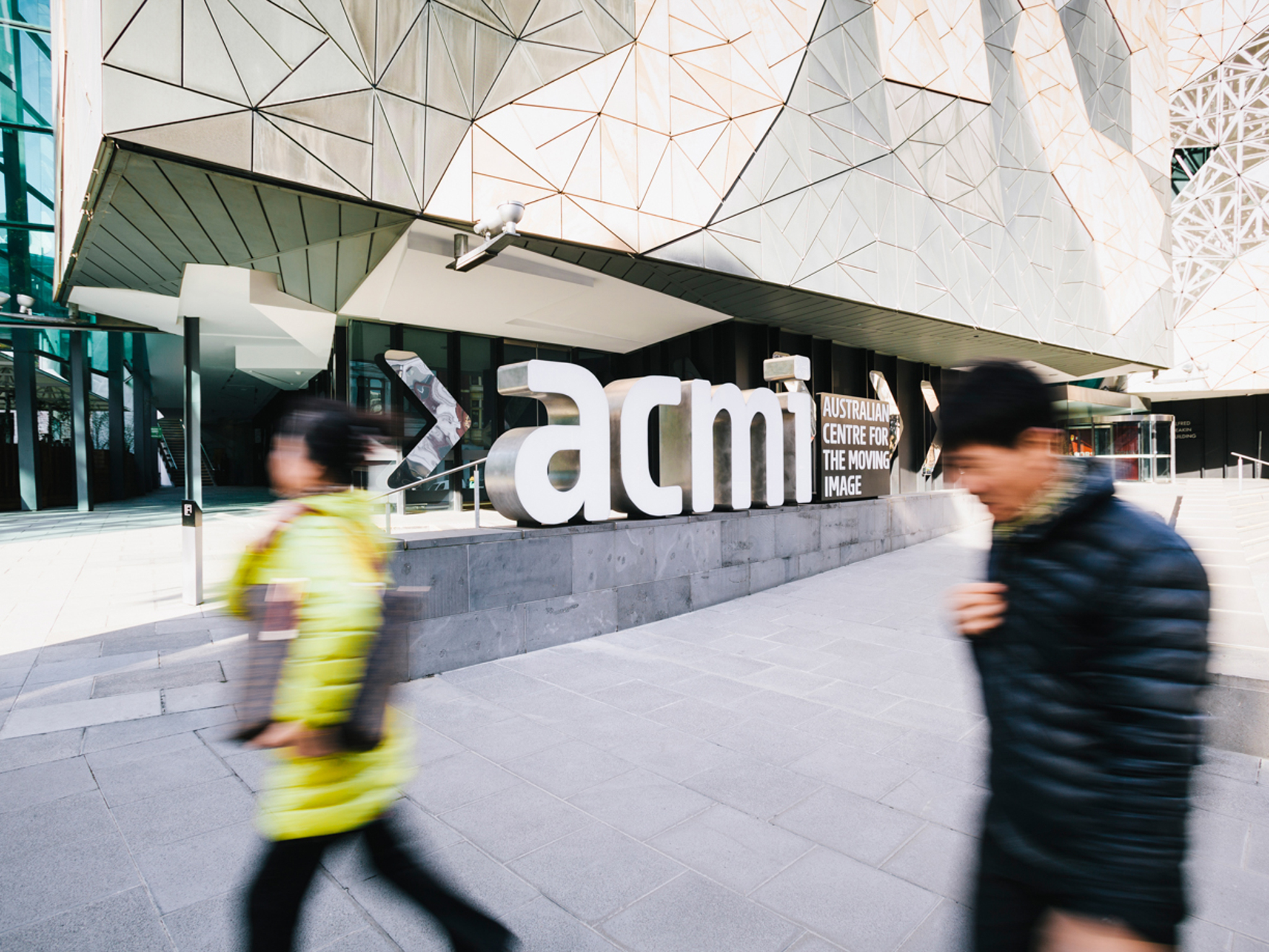 Australian Centre for the Moving Image 2016 exterior 01 feat signage courtesy ACMI 2016 photographer credit Renee Stamatis