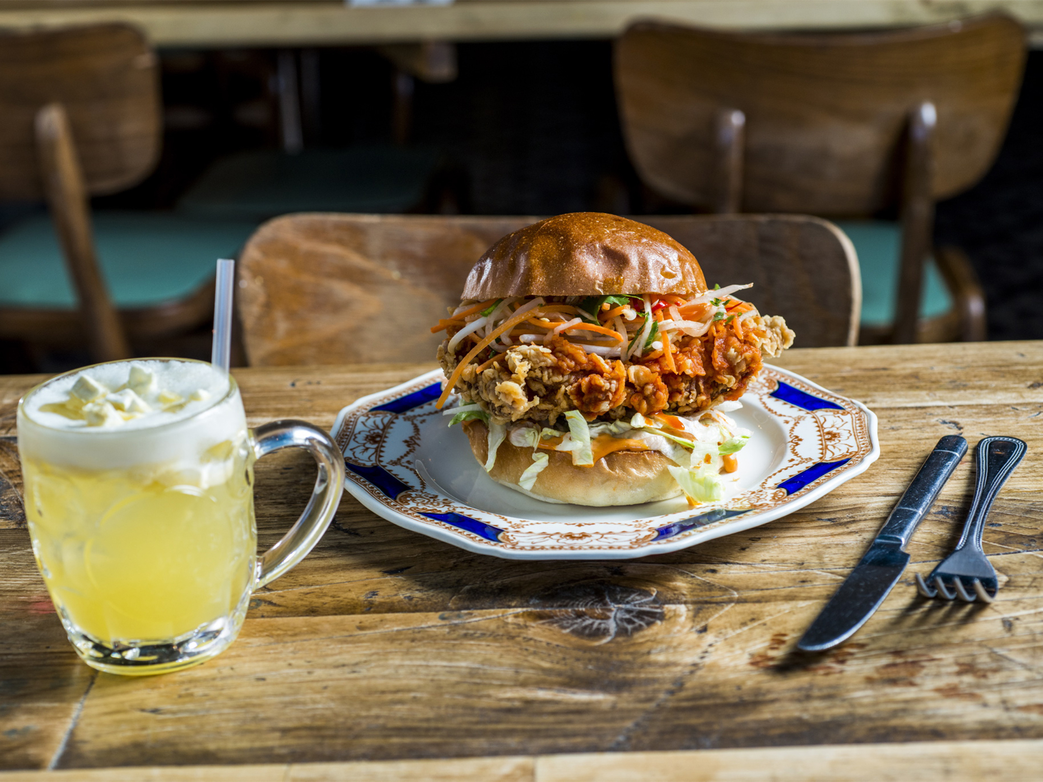 100 best dishes in london, chick n sours, korean k pop burger