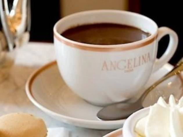 Warm up with a hot chocolate at Angelina