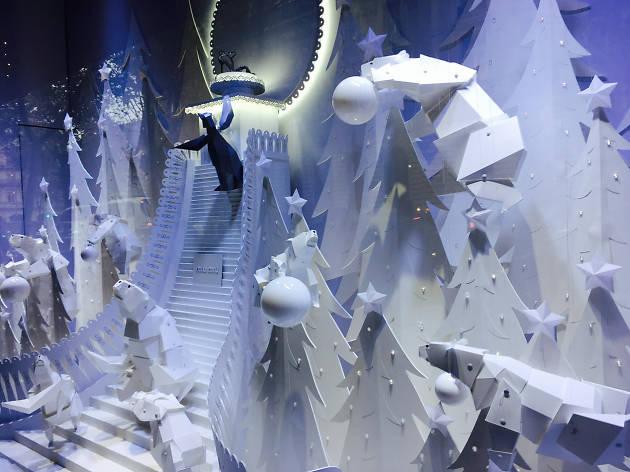 Les vitrines de Noël des grands magasins