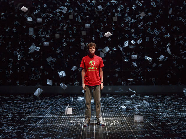Adam Langdon as Christopher in the touring production of The Curious Incident of the Dog in the Night-Time