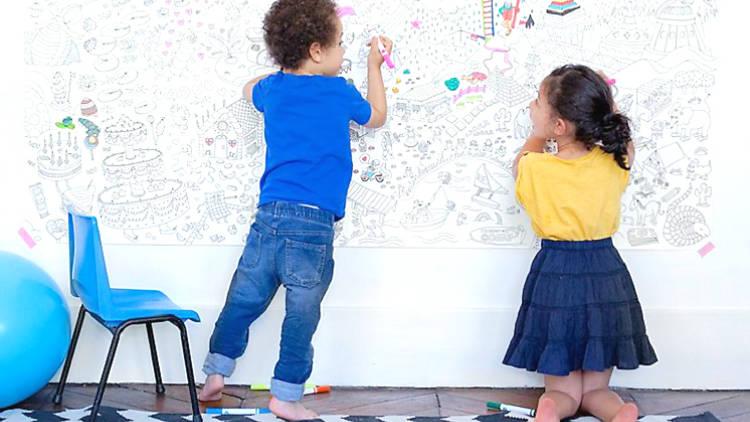 Poster para colorear niños