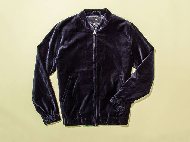 Christmas gift guide: for him - Velvet bomber jacket by H&M
