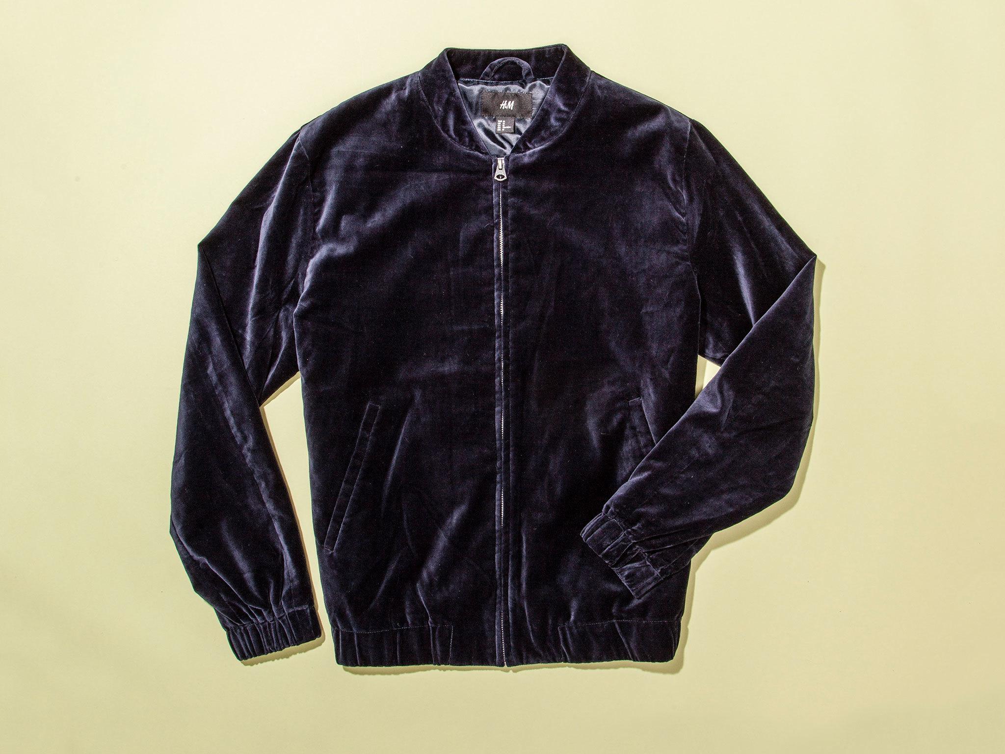 Christmas gift guide: for him - Velvet bomber jacket by H&M