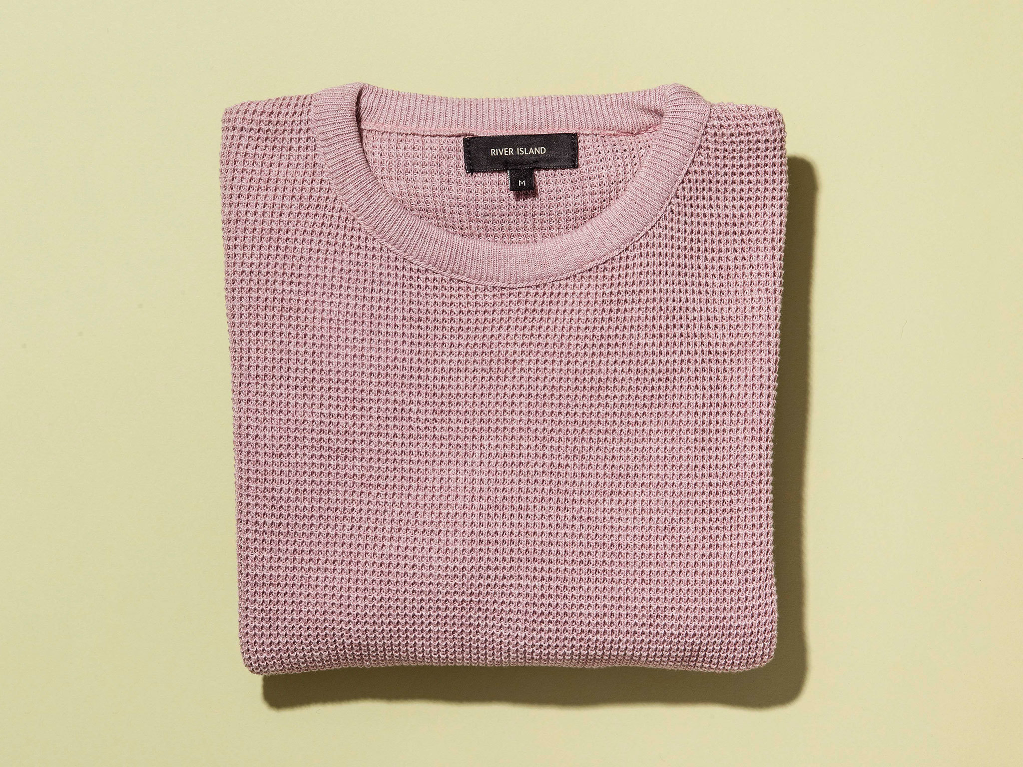 Pink textured jumper by River island