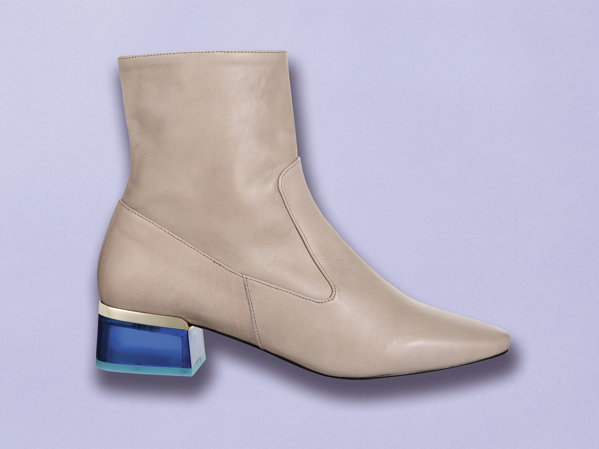 Perspex heeled boots by Topshop