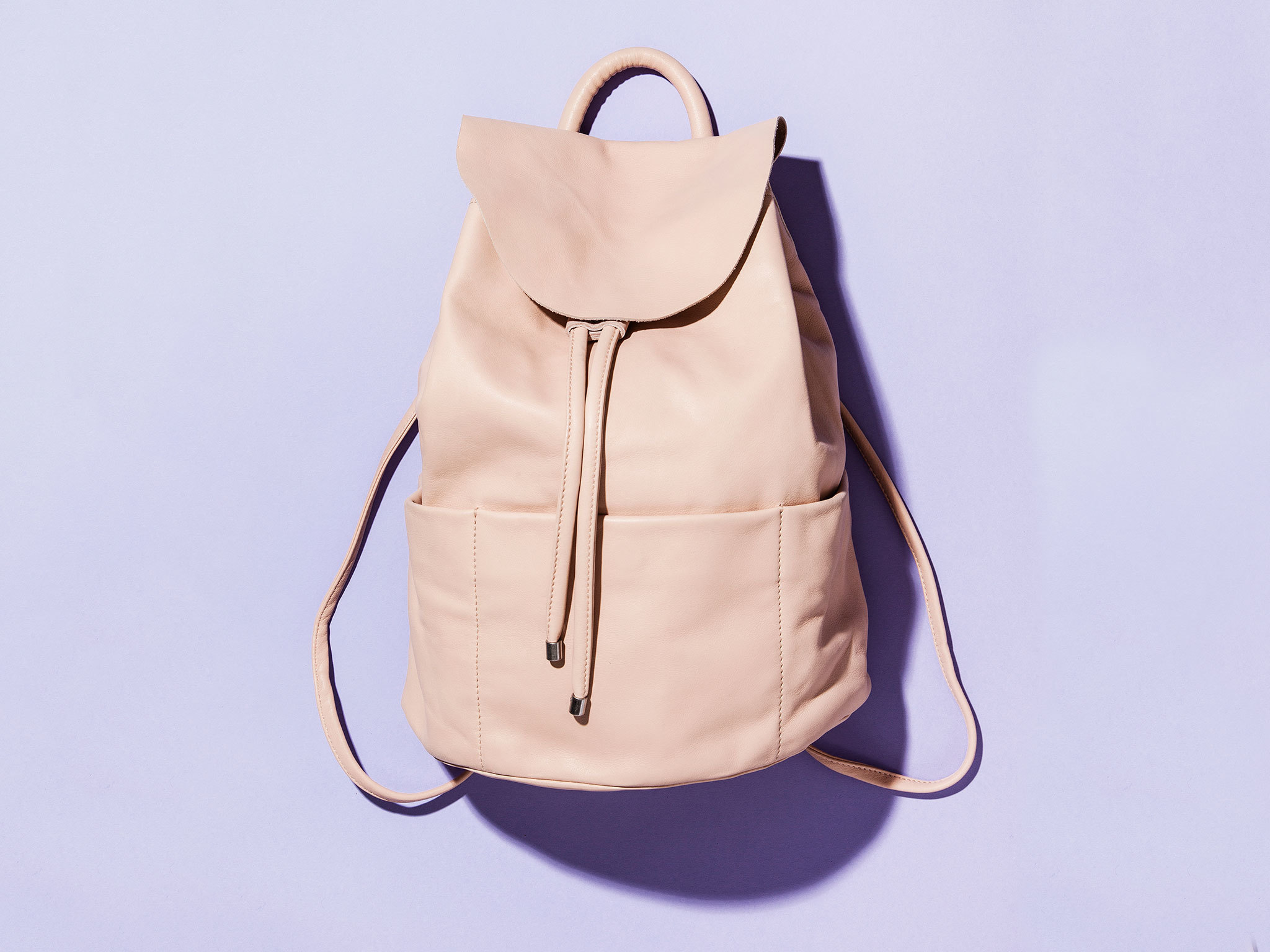 Unstructured leather backpack by COS