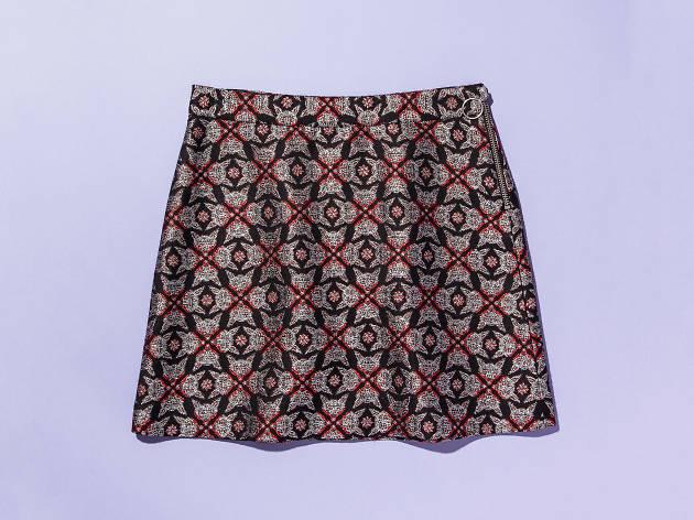 Jacquard skirt by Maison Kitsune