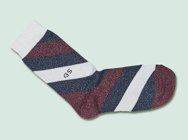 Christmas gift guide: personalised - Monogrammed glitter lurex Aurora socks