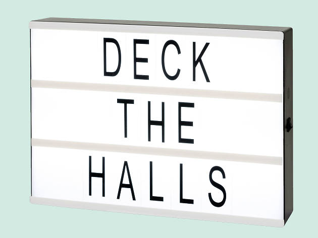 hristmas gift guide: personalised - Cinematic light box by Talking Tables