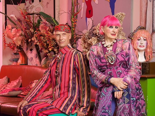 Christmas Shopping With Andrew Logan And Zandra Rhodes